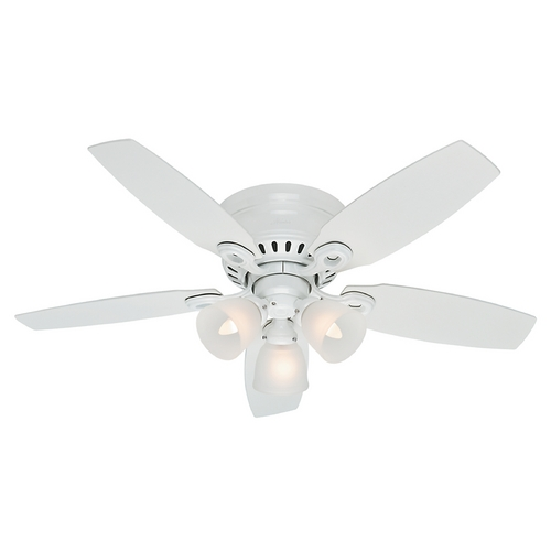 Hunter Fan Company Hunter Fan Company Hatherton Snow White Ceiling Fan with Light 52087