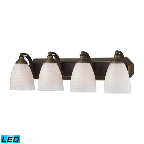 Elk Lighting Elk Lighting Bath and Spa Aged Bronze LED Bathroom Light 570-4B-WS-LED