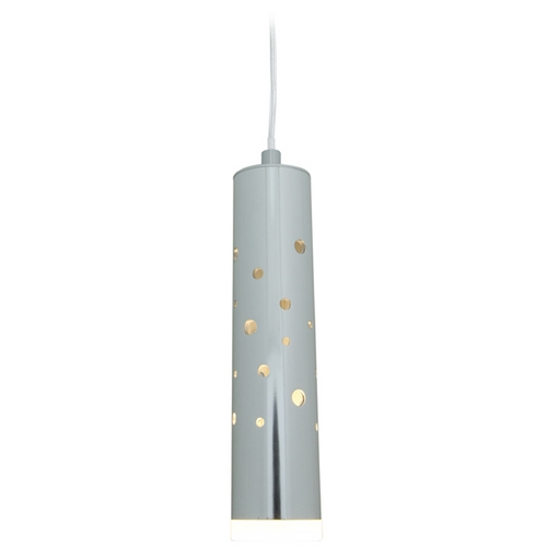 Access Lighting Access Lighting Rain Chrome LED Mini-Pendant Light with Cylindrical Shade 70048LED-CH/ACR