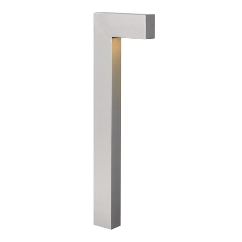 Hinkley Lighting Modern Path Light with White Glass in Titanium Finish 1518TT