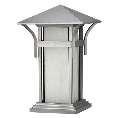 Hinkley Lighting Pier Light with White Glass in Titanium Finish 2576TT-GU24