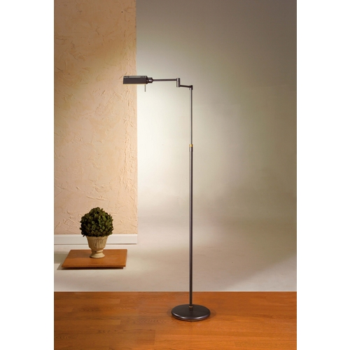 Holtkoetter Lighting Holtkoetter Modern Floor Lamp in Hand-Brushed Old Bronze Finish 6317 HBOB