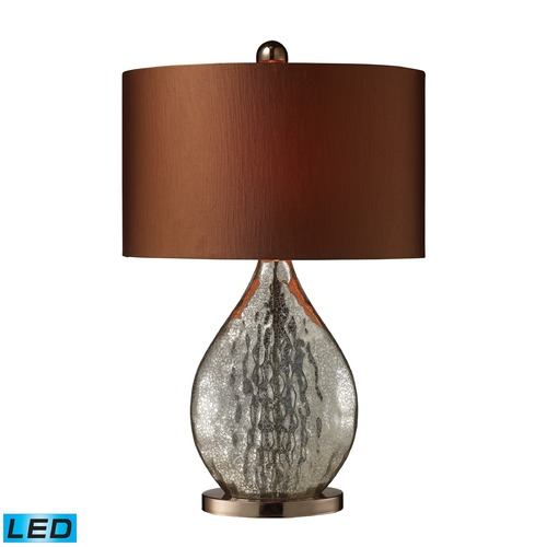Dimond Lighting Dimond Lighting Antique Mercury Glass, Coffee Plating LED Table Lamp with Oval Shade D1889-LED