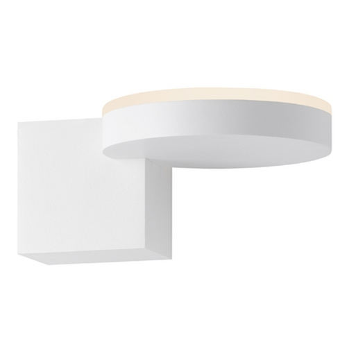 Sonneman Lighting Sonneman Lighting Disc-Cube Textured White LED Sconce 2360.98