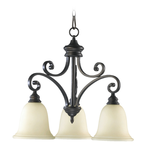Quorum Lighting Quorum Lighting Bryant Oiled Bronze Chandelier 6354-3-86