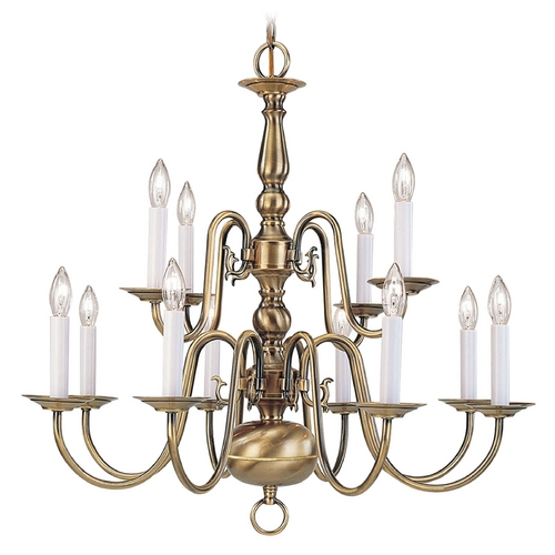 Livex Lighting Livex Lighting Williamsburg Antique Brass Chandelier 5012-01