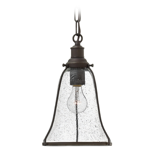 Hinkley Lighting Hinkley Lighting Marlowe Oil Rubbed Bronze Mini-Pendant Light with Bell Shade 3497OZ