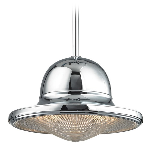 Elk Lighting Elk Lighting Urbano Polished Chrome Pendant Light with Bowl / Dome Shade 17232/1