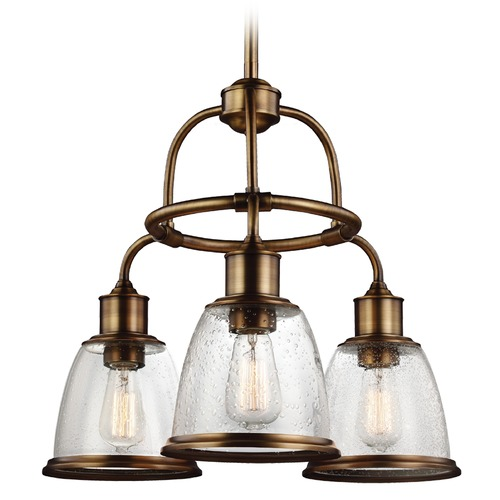 Feiss Lighting Feiss Lighting Hobson Aged Brass Chandelier F3020/3AGB