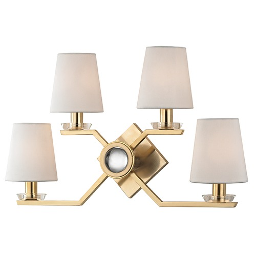 Hudson Valley Lighting Baker 4 Light Sconce - Aged Brass 5940-AGB