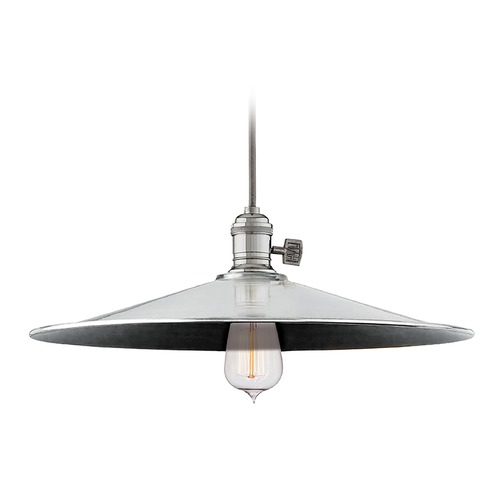 Hudson Valley Lighting Hudson Valley Lighting Heirloom Polished Nickel Pendant Light with Coolie Shade 8002-PN-ML1
