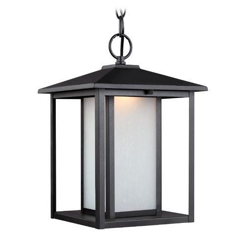 Sea Gull Lighting Sea Gull Hunnington Black LED Outdoor Hanging Light 6902991S-12