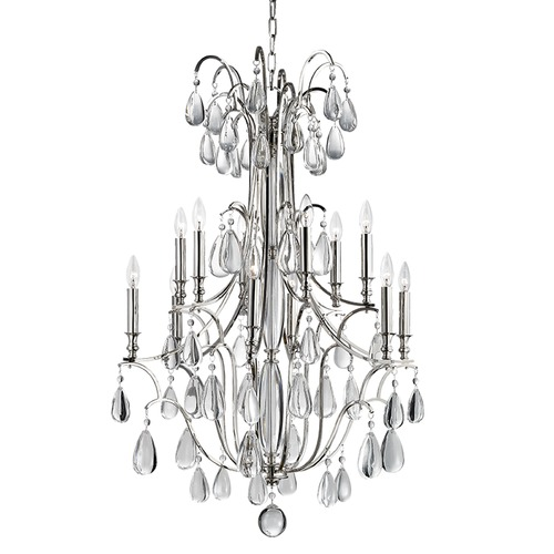 Hudson Valley Lighting Hudson Valley Lighting Crawford Polished Nickel Chandelier 9329-PN