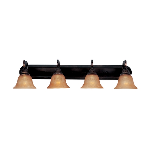 Maxim Lighting Bathroom Light with Amber Glass in Oil Rubbed Bronze Finish 11233SAOI