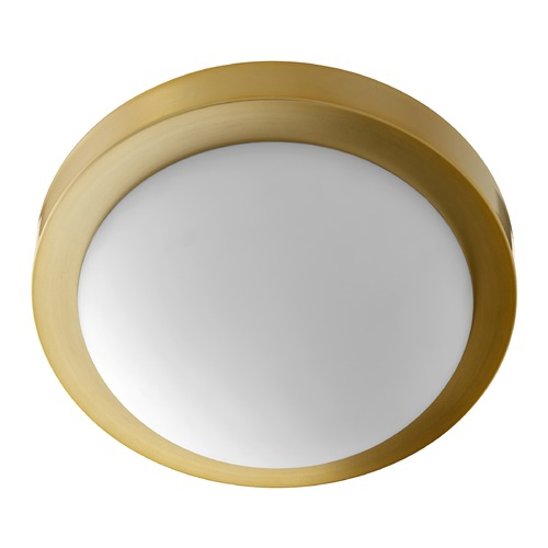 Quorum Lighting Quorum Lighting Aged Brass Flushmount Light 3505-11-80