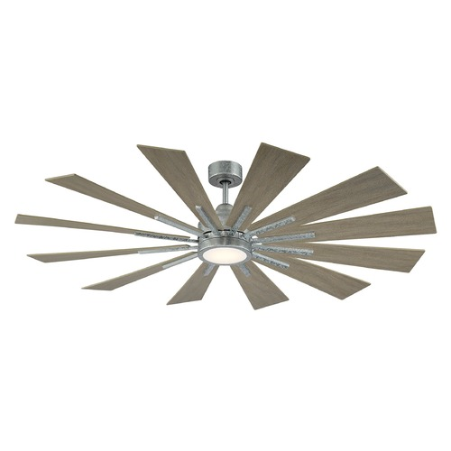 Savoy House Savoy House Lighting Farmhouse Galvanized LED Ceiling Fan with Light 60-760-12WO-168
