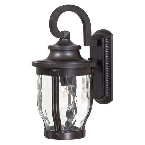 Minka Lavery Outdoor Wall Light with Clear Glass in Corona Bronze Finish 8762-166