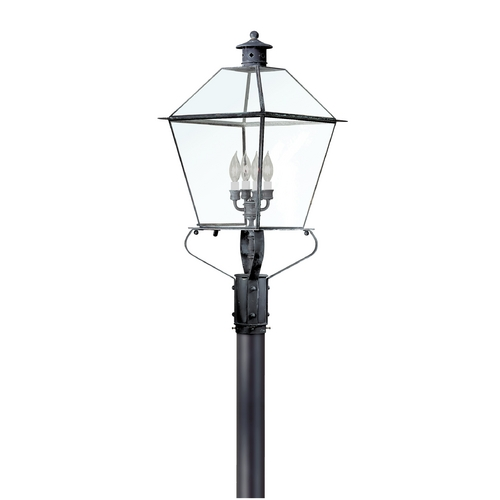 Troy Lighting Post Light with Clear Glass in Natural Rust Finish P8961NR