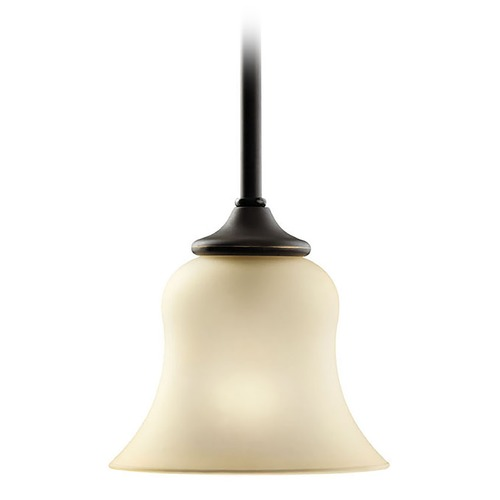 Kichler Lighting Kichler Mini-Pendant Light with Beige / Cream Glass 10743OZ