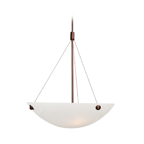 Access Lighting Modern Pendant Light with Alabaster Glass in Bronze Finish 23073-BRZ/ALB