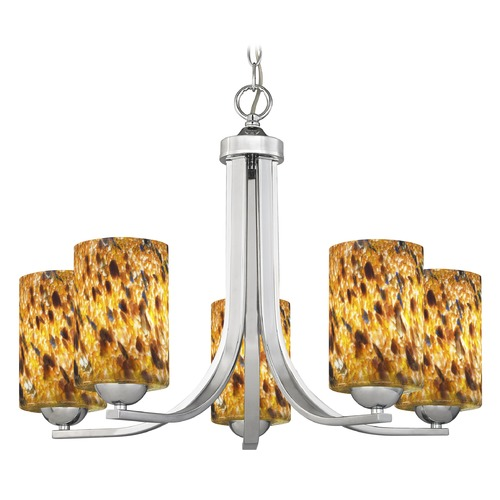 Design Classics Lighting Design Classics Dalton Fuse Chrome Chandelier 584-26 GL1005C