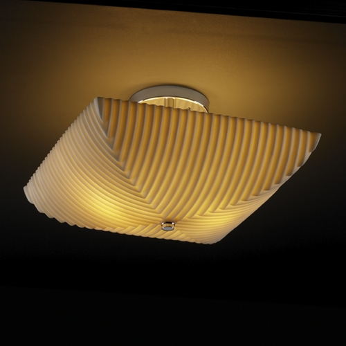 Justice Design Group Justice Design Group Porcelina Collection Semi-Flushmount Light PNA-9695-25-PLET-CROM