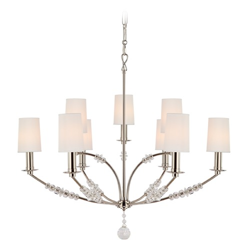 Crystorama Lighting Crystorama Lighting Mirage Polished Nickel Chandelier 8009-PN