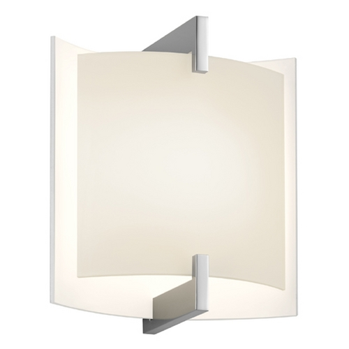 Sonneman Lighting Sonneman Lighting Double Polished Chrome LED Sconce 2450.01