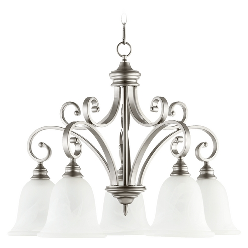 Quorum Lighting Quorum Lighting Bryant Classic Nickel Chandelier 6354-5-64