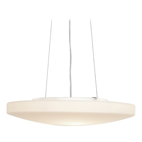 Access Lighting Access Lighting Orion Brushed Steel Pendant Light with Bowl / Dome Shade 50163-BS/OPL