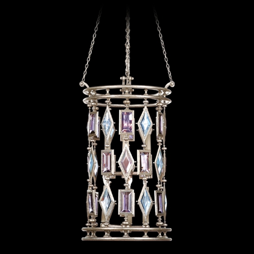 Fine Art Lamps Fine Art Lamps Encased Gems Vintage Silver Leaf Pendant Light 727440-1ST
