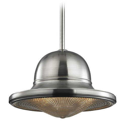 Elk Lighting Elk Lighting Urbano Brushed Nickel Pendant Light with Bowl / Dome Shade 17242/1