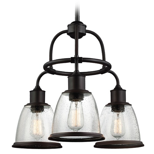 Feiss Lighting Feiss Hobson 3-Light Chandelier in Oil Rubbed Bronze F3020/3ORB
