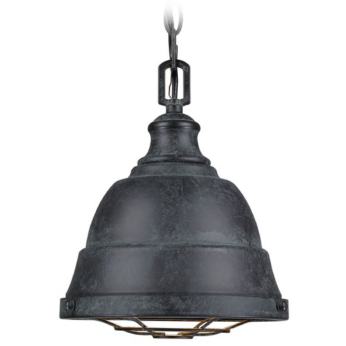 Golden Lighting Golden Lighting Bartlett Black Patina Mini-Pendant Light 7312-S BP