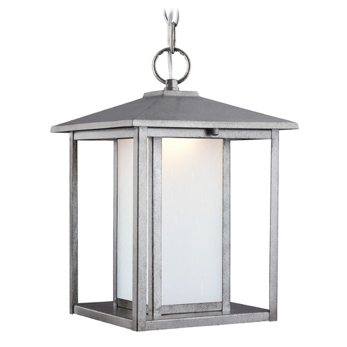 Sea Gull Lighting Sea Gull Hunnington Weathered Pewter LED Outdoor Hanging Light 6902991S-57
