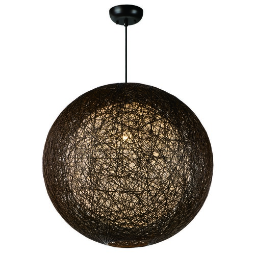 Maxim Lighting Maxim Lighting International Bali Pendant Light with Globe Shade 14407CHWT