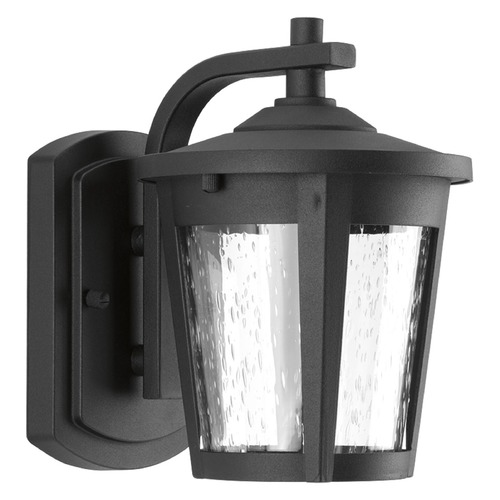 Progress Lighting Seeded Glass LED Outdoor Wall Light Black Progress Lighting P6077-3130K9