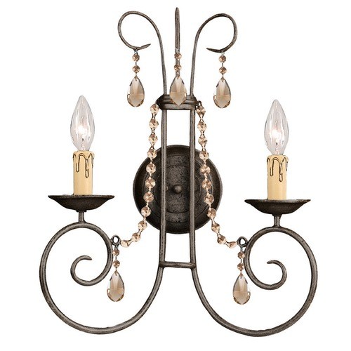 Crystorama Lighting Crystorama Lighting Soho Dark Rust Sconce 5202-DR-GT-MWP