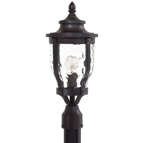 Minka Lavery Post Light with Clear Glass in Corona Bronze Finish 8766-166