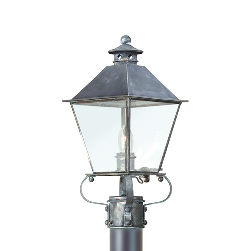 Troy Lighting Post Light with Clear Glass in Matte Black Finish P9132NAB
