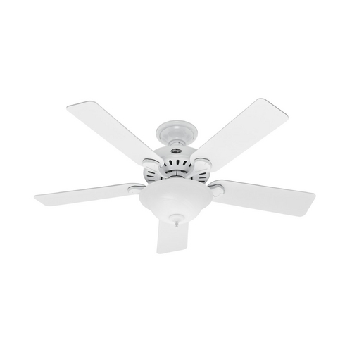 Hunter Fan Company Ceiling Fan with Light with White Glass 28720