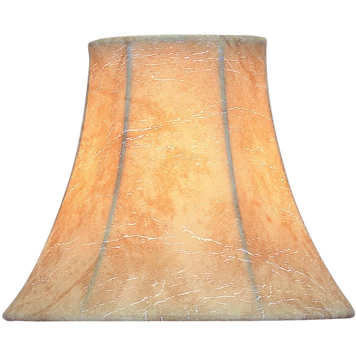 Lite Source Lighting Faux Leather Bell Lamp Shade with Clip-On Assembly CH530-6