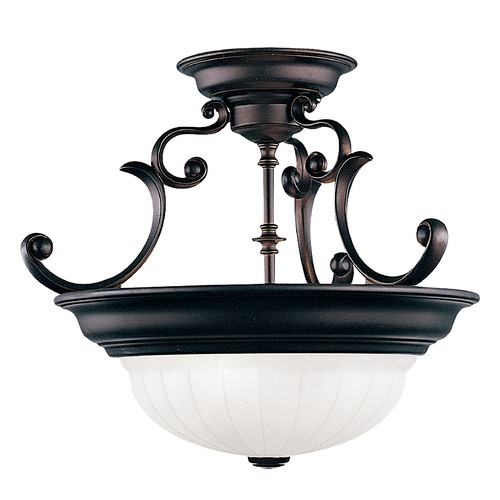 Dolan Designs Lighting Two-Light Semi-Flush Ceiling Light 524-30