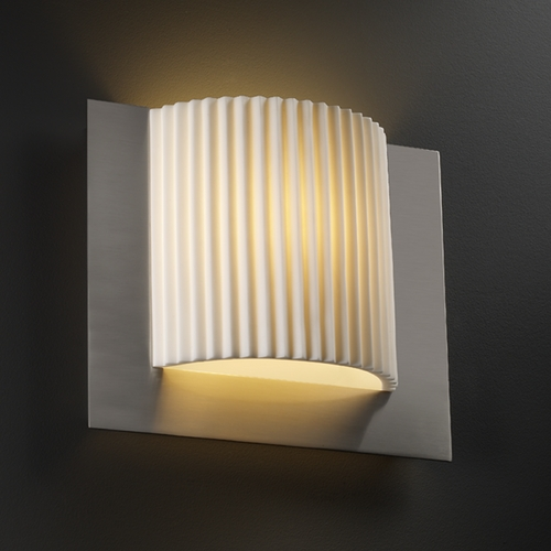 Justice Design Group Justice Design Group Porcelina Collection Sconce PNA-5560-PLET-NCKL