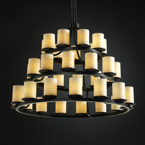 Justice Design Group Justice Design Group Limoges Collection Chandelier POR-8712-10-WAVE-MBLK