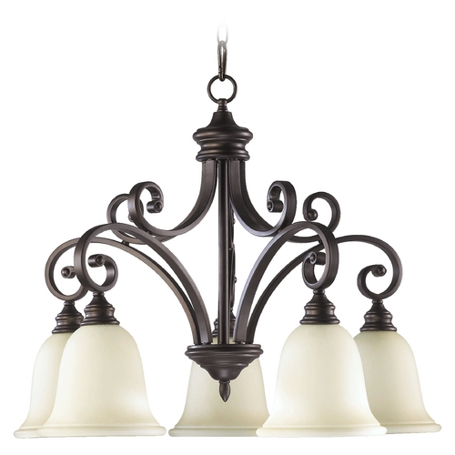 Quorum Lighting Quorum Lighting Bryant Oiled Bronze Chandelier 6354-5-86