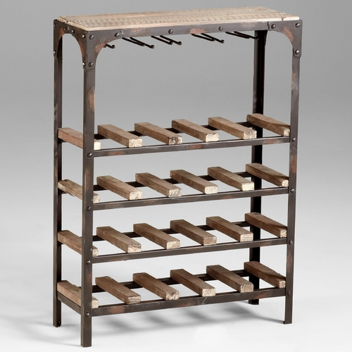 Cyan Design Cyan Design Gallatin Raw Iron & Natural Wood Cabinets / Storage / Organization 04978