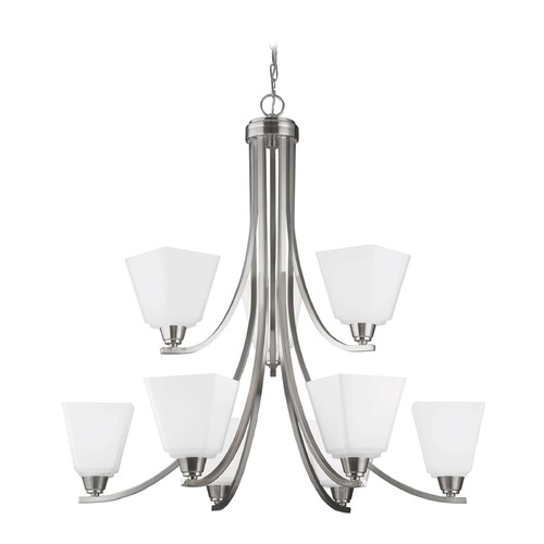 Sea Gull Lighting Sea Gull Lighting Parkfield Brushed Nickel Chandelier 3113009-962