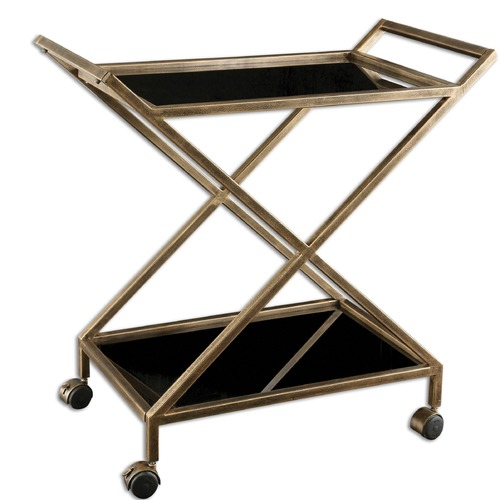Uttermost Lighting Uttermost Zafina Gold Bar Cart 25013