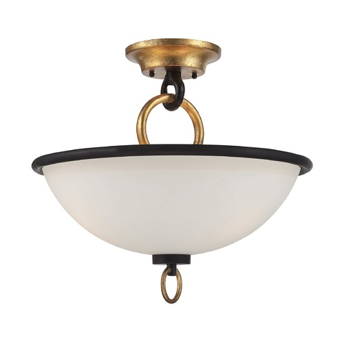 Savoy House Savoy House Lighting Parkdale Matte Black W/ Gold Hi-Lts Semi-Flushmount Light 6-562-3-46